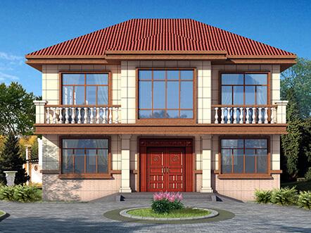 141平带露台农村二层房屋设计图纸