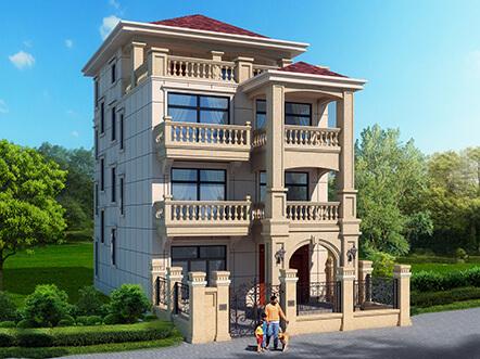 8x12米四层新农村别墅户型设计图纸