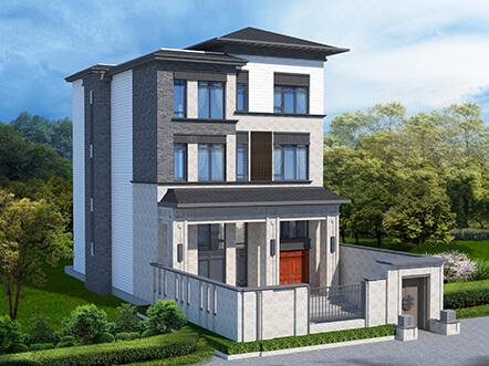 138平带堂屋四层新中式自建房图纸