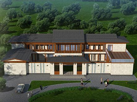 408平新中式四合院农村别墅设计图纸