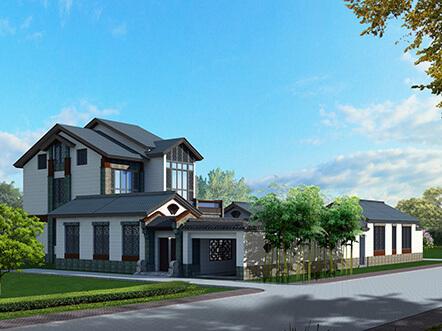 27x25米带庭院新农村别墅设计图纸