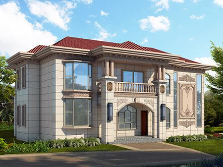 240平两层带堂屋自建房设计图纸