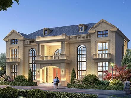 造价35万古典欧式双拼别墅设计图