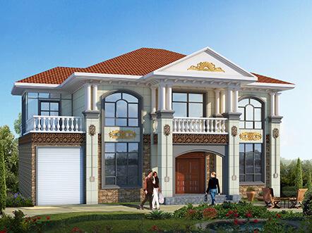 2019二层农村新款别墅设计方案图纸,漂亮实用,想低调都难