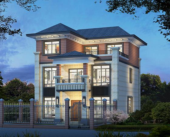 2020新款农村三层新中式别墅设计图纸