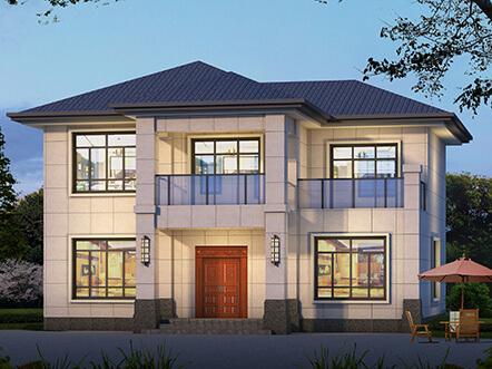 140平现代新乡村两层小别墅设计图纸
