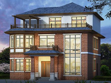 180平英式带露台农村小别墅设计图及效果图