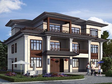 经典中式农村三层40万小别墅设计图纸及效果图
