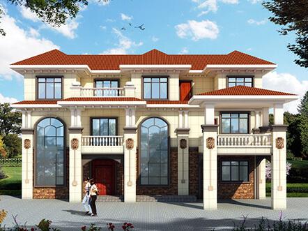 270平带酒窖的高档豪华三层乡村别墅设计图片