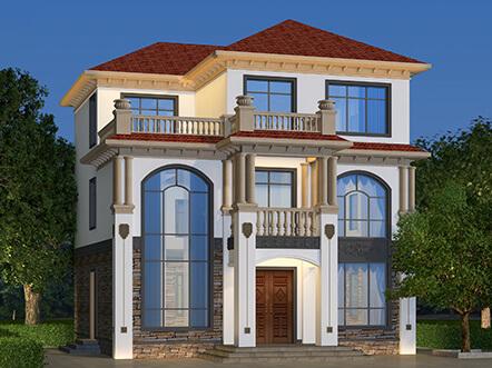 11x13米农村房屋设计图片,25万左右的130平方三层小别墅,农村朋友喜欢的自建房户型