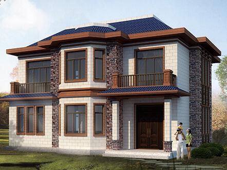 130平农村20万元二层小别墅楼平面户型设计图纸