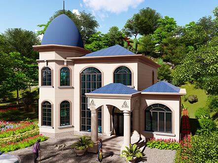 150平米两层欧式农村别墅设计图纸及效果图