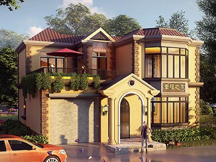 130平两层带车库农村别墅设计图,造价低至15万