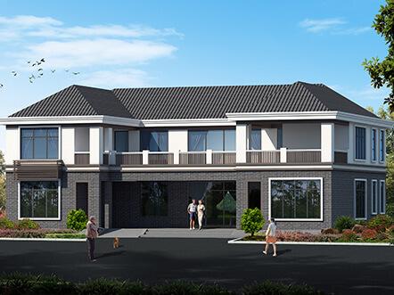 简单大气的二层农村自建房屋设计图及效果图
