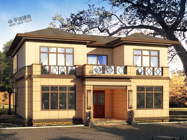 唐式风格农村二层自建房设计图纸及效果图,古朴典雅