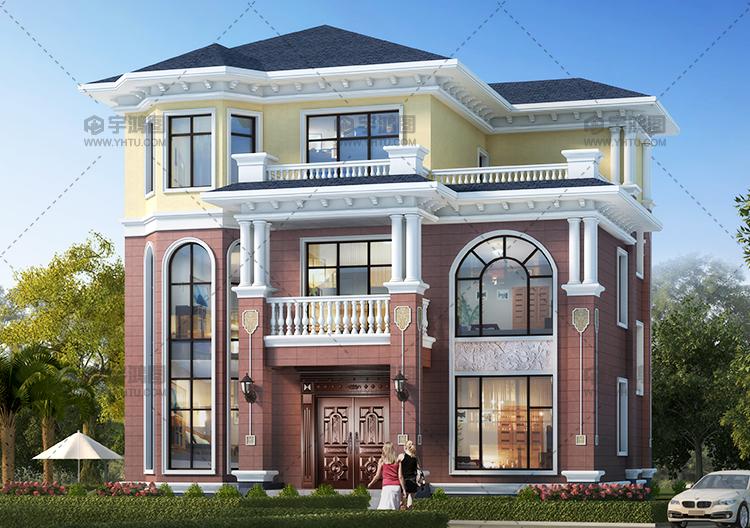 造价25万以内三层农村别墅设计图,房子外观高档大气