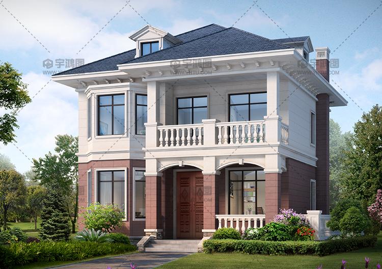 90平带地下室农村别墅设计图,造价20万还带阁楼