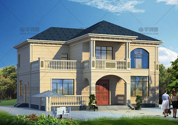 180平清新农村复式小别墅设计图纸及外观效果图