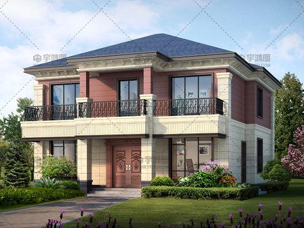 二层框架结构带小露台别墅设计图纸