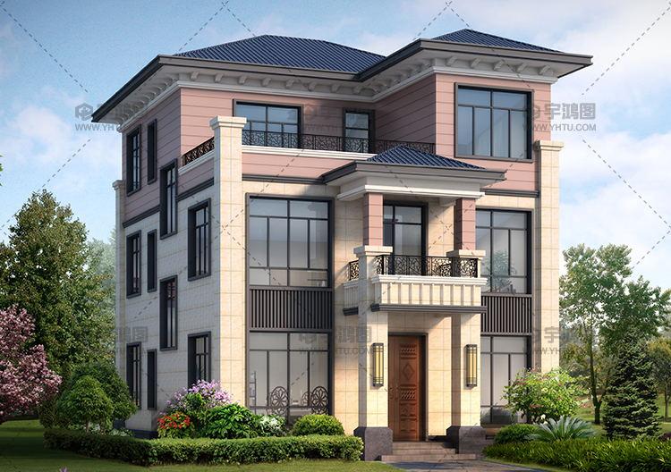 25万三层欧式自建别墅设计图,外观美观户型舒适