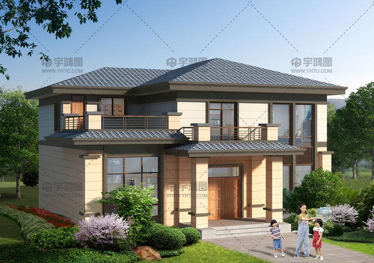 2019新款二层中式农村小楼图