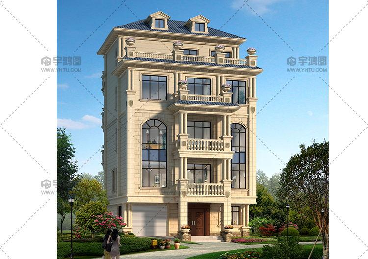 109平米四层豪华欧式农村别墅设计图纸