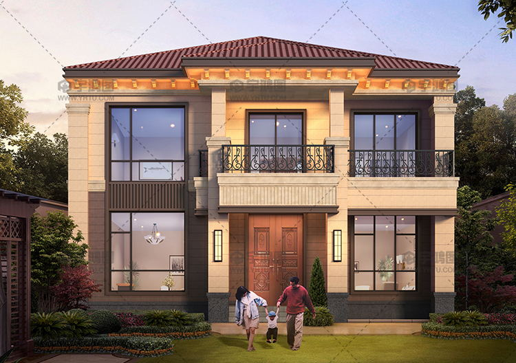 150平二层自建房平面设计图及外观效果图