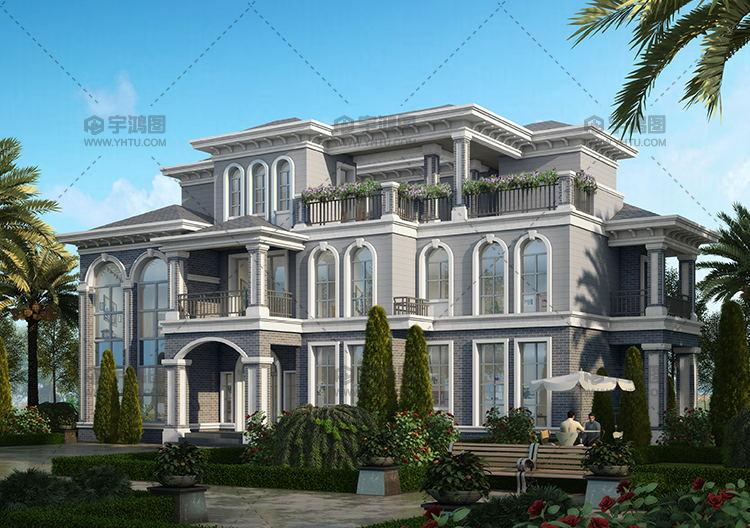 197平米三层高端欧式别墅设计图
