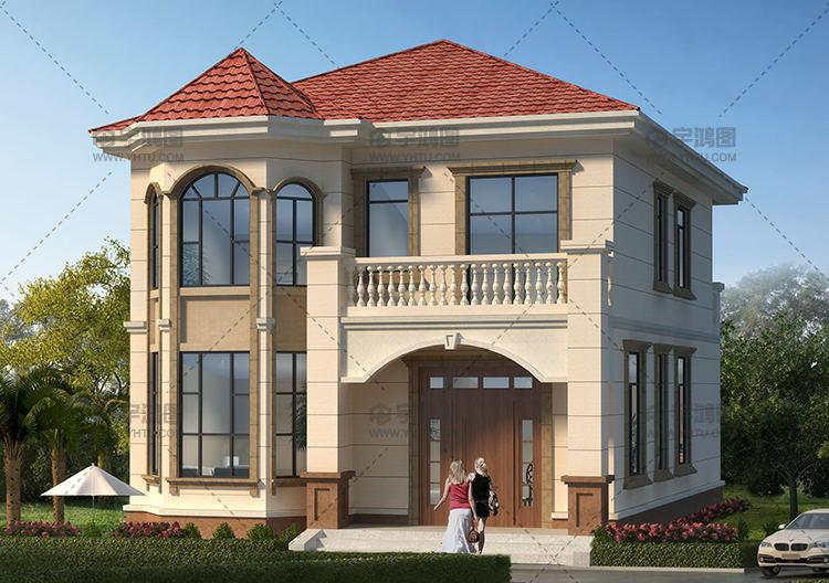 125平乡下二层住宅设计图纸及效果图