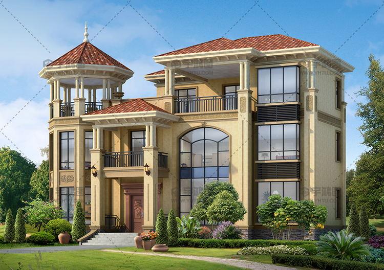 52万三层豪华别墅设计图纸框架结构