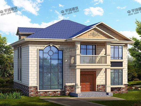 新农村二层欧式小别墅设计图纸