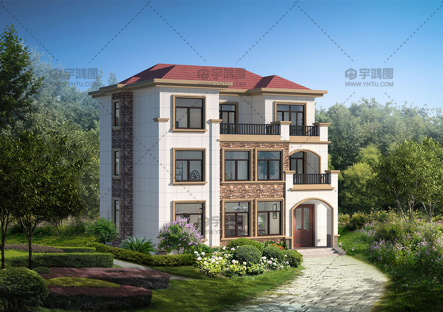 三层欧式私人别墅设计图纸