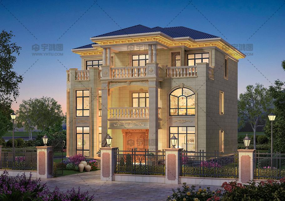 三层砖混欧式别墅设计全套图纸