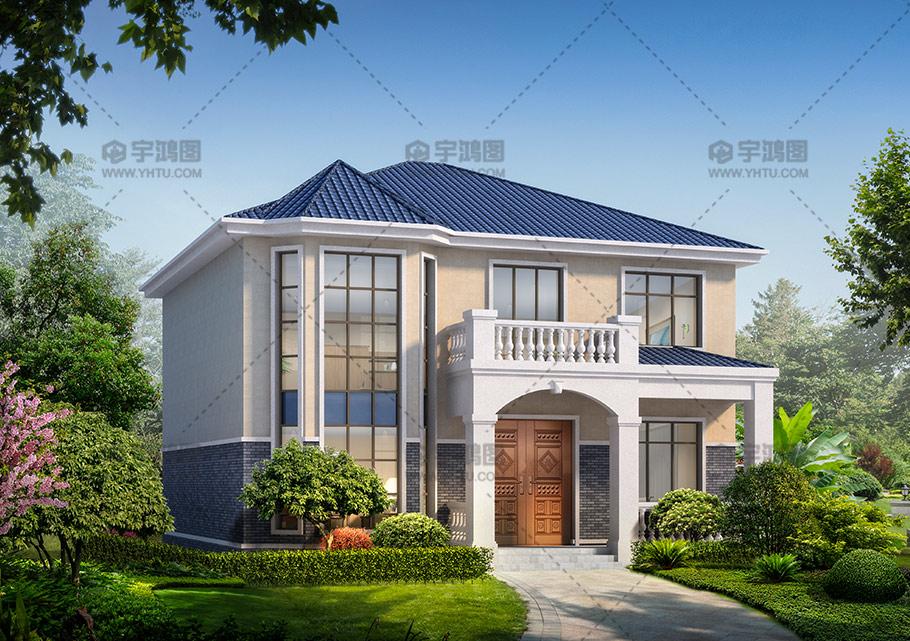 30万二层欧式农村复式别墅设计图