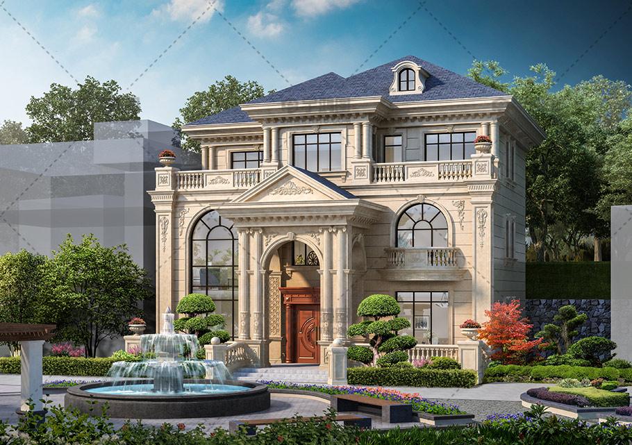35万三层欧式复式别墅设计图纸