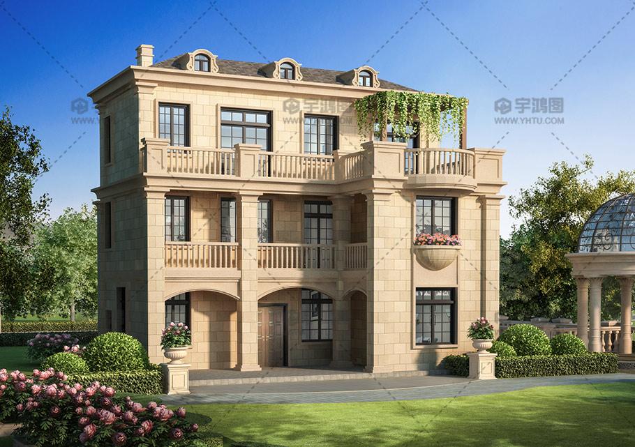100平三层法式私人别墅设计图纸