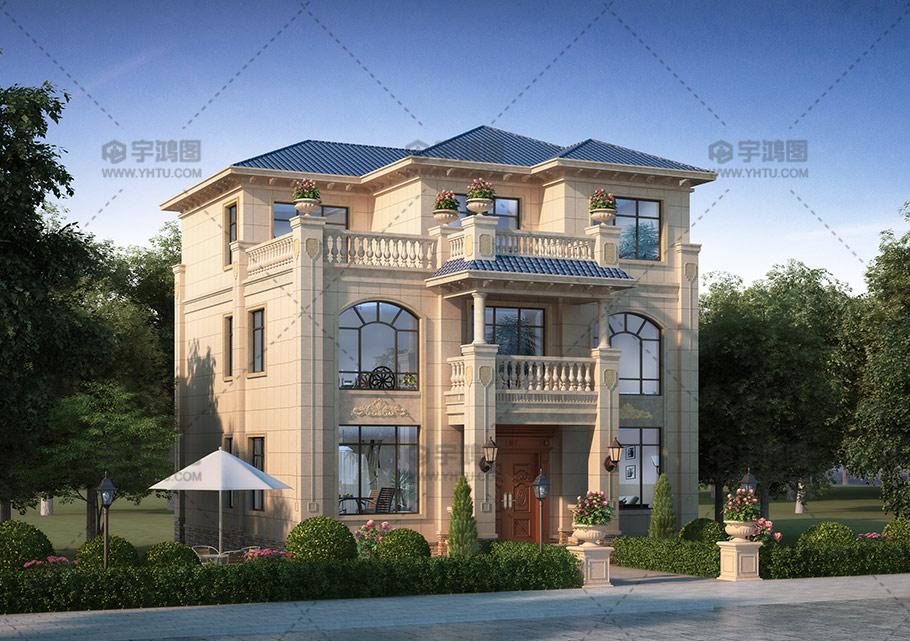 12mx13m三层带露台自建别墅设计图纸