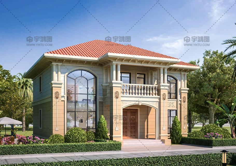 150平二层漂亮欧式小别墅设计图纸