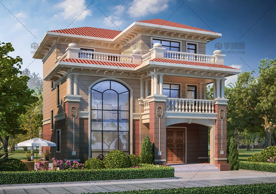 25万农村三层实用型小别墅设计图