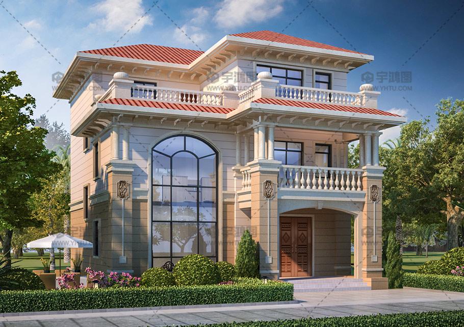 11x14m三层欧式小别墅设计图