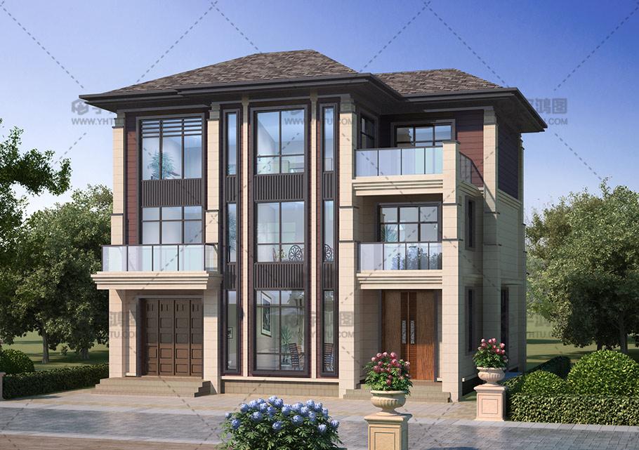 120平三层中式实用别墅设计图