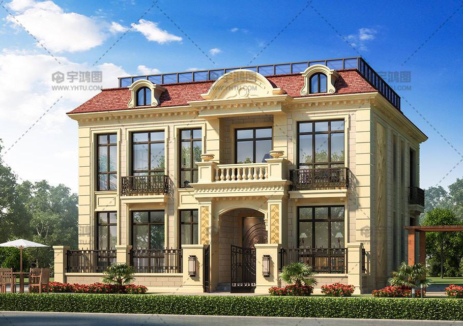 173平米欧式自建房设计图
