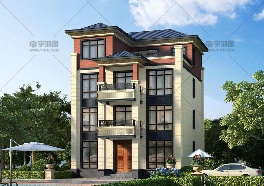 四层小开间框架结构别墅设计图