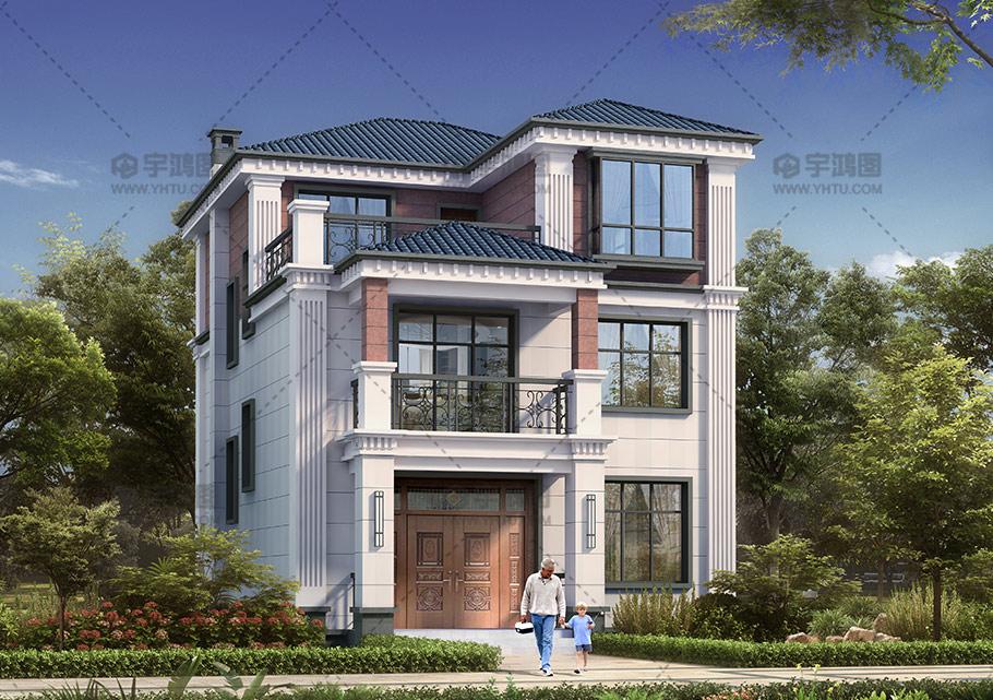 108平小开间三层自建房设计图