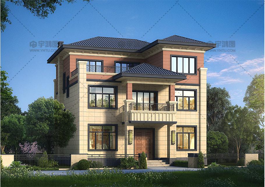 11x14米三层欧式别墅全套图纸