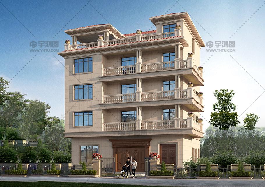 150平底层商铺框架结构别墅图纸