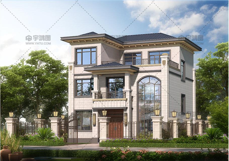 120平三层欧式框架别墅设计图纸