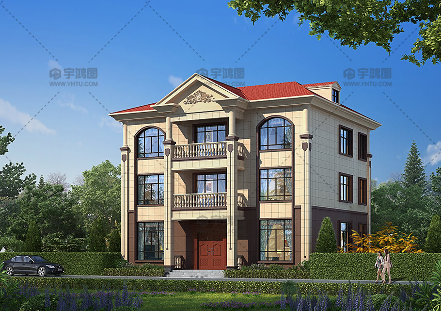 170平新农村三层欧式别墅设计图纸