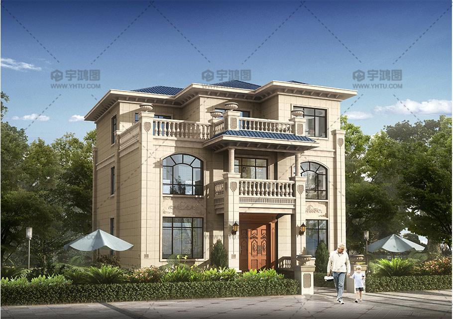 三层欧式带大露台实用型别墅设计图