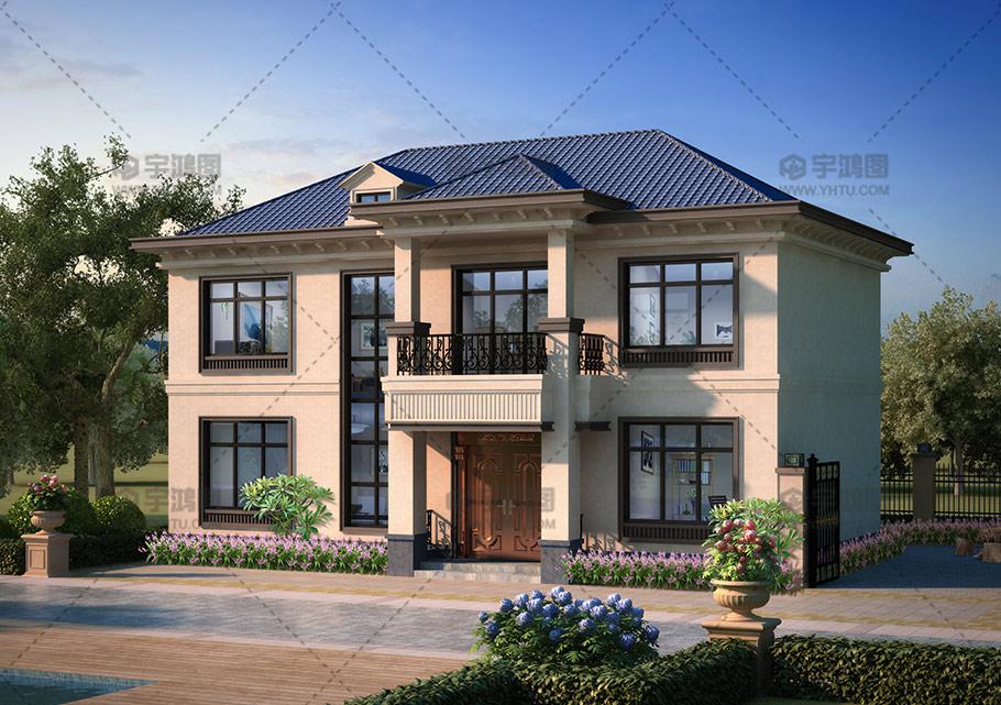 两层欧式140平农村自建房设计图